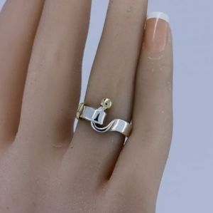 Tiffany & Co 925 Sterling Silver 750 Yellow Gold